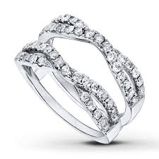 kay jewelers outlet kayoutlet diamond enhancer ring 1 carat tw round cut 14k white gold