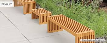 outdoor backless bench treenovation