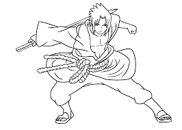 naruto cartoon coloring pages for kids printable free coloring