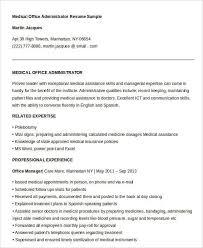 medical administrative resume 10 sample resume for medical
