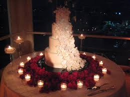 Cake Table Decorations by Classic Black And White Wedding With Red Roses Newport Beach Ca