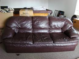 Leather Sofa Used Amazing Comfy Brown Leather Saanich Sidney