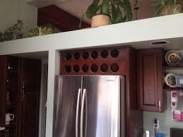 Wine Cabinet Furniture Refrigerator Handmade Open Wine Cabinet Above Refrigerator By Beack