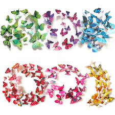 Diy Butterfly Decorations by 12pcs Diy Butterflies Magnet Wall Sticker U2013 Thezale