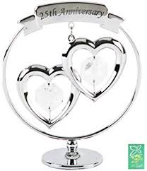 25 wedding anniversary gift 25th wedding anniversary gift engraved presentation cut glass