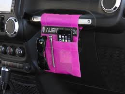 wrangler jeep pink alien sunshade jeep wrangler trailpouch multi purpose mesh storage