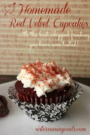 homemade red velvet cupcakes with the best whipped frosting you