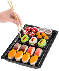 Where To Buy Japanese Candy Kits Candy Sushi A Tray Of Colorful Candy Shaped Like Sushi