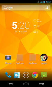 home screen design in android home design