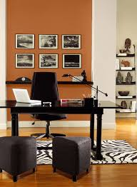 orange home office ideas radiant orange office paint color schemes