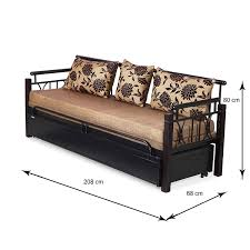 Sofa Bed Metal Frame Nilkamal Flint Two Seater Sofa Bed Black Amazon In Home