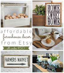 affordable farmhouse decor on etsy all under 50 christinas