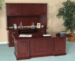 Executive Desk With Hutch Advanced Liquidators Harvard Collection High Gloss Executive