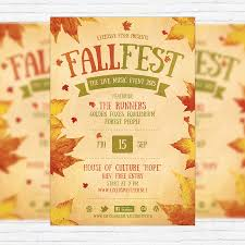 fall festival flyer template printable flyers in word and free