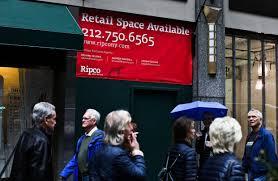 retail slump pounds manhattan landlords wsj