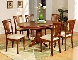 Dining Table And Chairs For 6 Oval Dining Table Set For 6 Foter