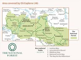 The National Map Os Explorer 245 The National Forest