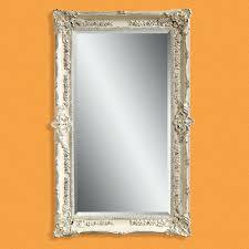 White Framed Bathroom Mirrors Wall Mirrors White Wooden Framed Wall Mirror White Wood Frame