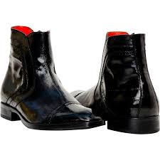 remi black eel skin boots paolo shoes
