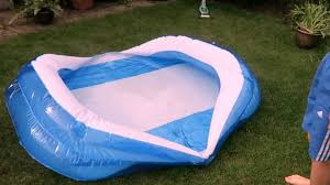 Backyard Blow Up Pools by How To Empty A Paddling Pool Youtube