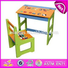 table and chair set for sale wooden student table and chair for kids wooden toy study