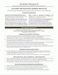 Example Of Professional Resume Emt Resume Samples