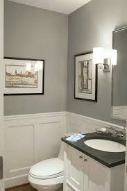 wainscoting ideas for bathrooms pikes peak grey with blue undertone from benjamin looks great