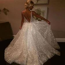 wedding dress images gown v neck sleeveless backless sweep wedding dress