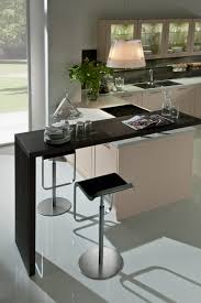 kitchen bar black stylsih contemporary wooden breakfast bar two