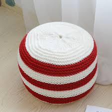 amazon com yevem pouf ottoman round hand knitted cable style