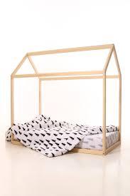 60 x 120 cm kids nursery bed wooden house children bed house