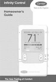 carrier thermostats infinity control home pdf owner u0027s manual free