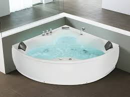 corner whirlpool bathtub waterfall colour light senado
