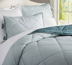 Porcelain Blue Duvet Cover Linen Silk Comforter Pottery Barn Except In Ivory