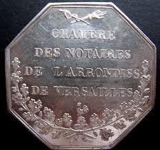 chambre notaire versailles jeton napoléon iii chambre des notaires de l
