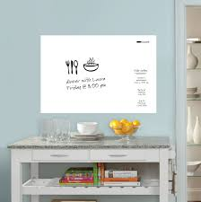 large plain dry erase wall art sticker with pen