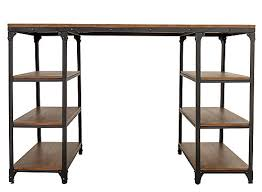 counter height desk with storage counter height desks stylish lorimer writing desk brown raymour