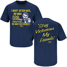 michigan wolverines fan gear michigan wolverines fans stay victorious anti buckeyes navy tee