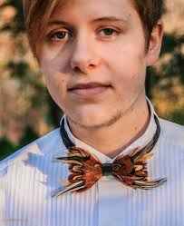 fashion thanksgiving feather bow tie available light only