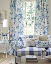 French Country Living Room by Floral Blue French Country Curtains In Living Room Beautify Your