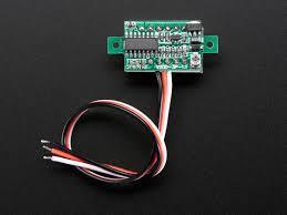 mini 3 wire volt meter 0 99 9vdc id 705 7 95 adafruit