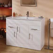 a large 1020mm wide contemporary vanity unit finished in high