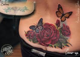 flower back butterfly by slawit ink