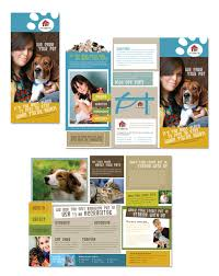 ngo brochure templates kennel pet day care tri fold brochure template http www