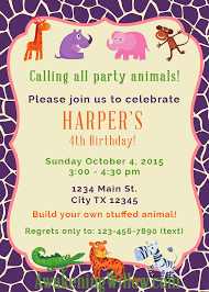 create invitations make your own stuffed animals birthday party decorations