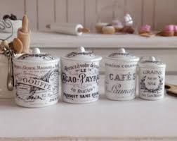 themed kitchen canisters miniature jars set 2 pieces of preservation for dolls and doll