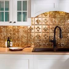 fasade kitchen backsplash fasade 24 in x 18 in fleur de lis pvc decorative tile backsplash
