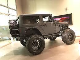 custom black jeep black 2 door starwood custom fmj wrangler starwoodmotors