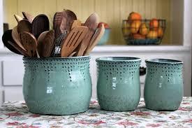 kitchen utensil canister back bay potteryback bay pottery