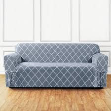 Slipcovers For Sofas And Chairs by Amazon Com Sure Fit Lattice 1 Piece Sofa Slipcover Pacific